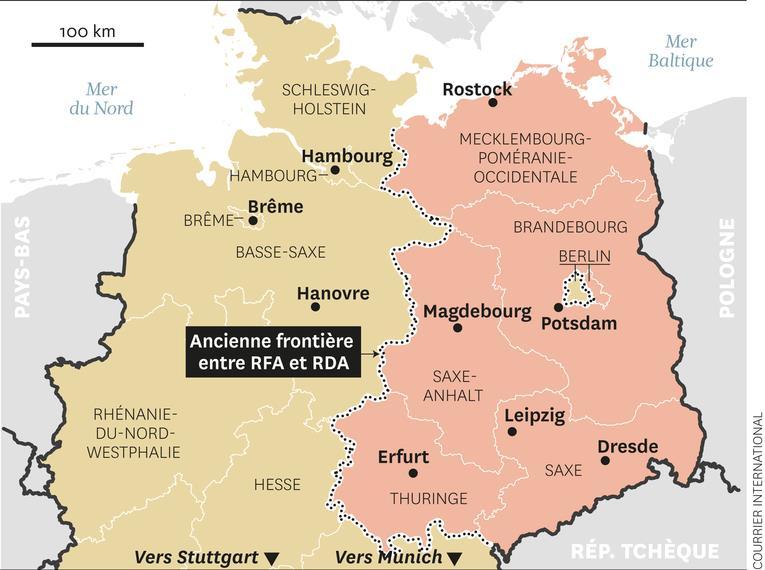 allemagne de l est carte Les illusions perdues des Allemands de l'Est | Libres jugements